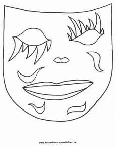 gratis malvorlagen fasching maske