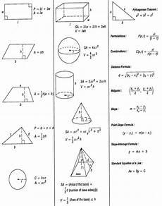 Geometric Formula Geometric Solids Formulas Reference Sheet Free Download