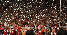 Light Up Sanford Stadium Watch Georgia Fans Light Up Sanford For Notre Dame And