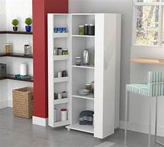 kitchen cabinet storage white food pantry shelf
