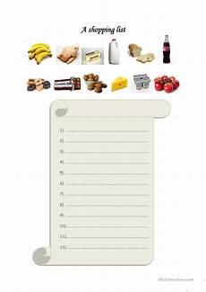 Making A Grocery List Worksheet A Shopping List Worksheet Free Esl Printable Worksheets