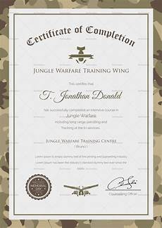 Army Certificates Of Training Army Camo Training Completion Certificate Design Template