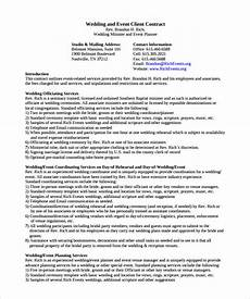 Event Planner Contract Templates Free 25 Sample Wedding Contracts In Google Docs Ms Word
