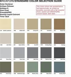 Solomon Mortar Color Chart Brickform Standard Color Selection Guide Janell Concrete