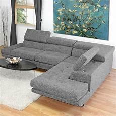 baxton studio adelaide sectional sofa in grey