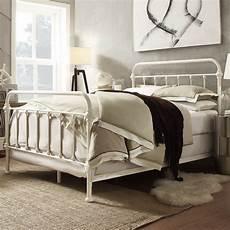 metal bed frame white antique iron king