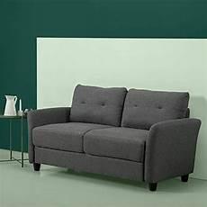 new zinus ricardo contemporary upholstered 62 2 inch sofa