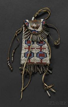 cheyenne beaded commercial leather strike a light pouch