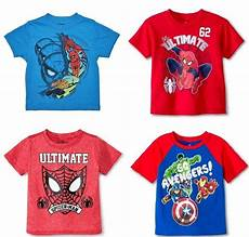 Toddler Clothes For Boys 4t Marvel Spider Toddler Boys Various T Shirts