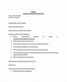 Agenda Of Meeting Sample Format 8 Board Meeting Agenda Templates Free Sample Example