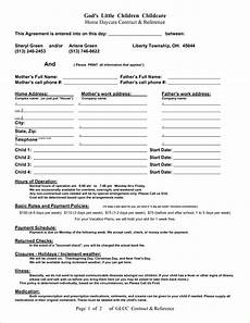 Home Daycare Contracts Samples Pin Daycare Contract Template Image Search Results On