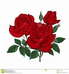 ramalhete de rosas vermelhas ilustra 231 227 o do vetor
