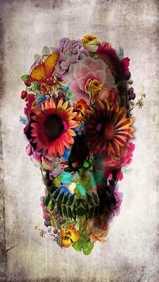 floral skull iphone wallpaper girly skull iphone wallpaper background floral skull