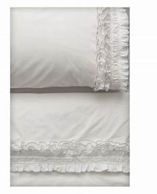 embellished sheets using lace and trim ruffle pillow