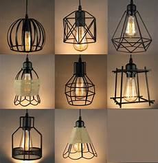Light Bulb Shades Vintage Industrial Metal Cage Black Cafe Loft Bar Pendant