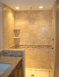 Travertine Bathrooms Edge Tile Travertine Shower Back Splash With