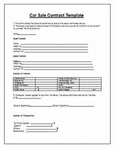 Contract For Selling A Car Printable Contract For Selling A Used Car Shop Fresh
