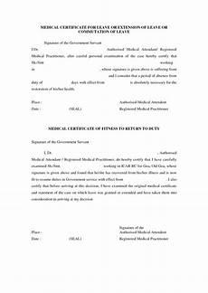 Medical Leave Certificate Format Pdf Medical Certificate Format For Sick Leave Planner