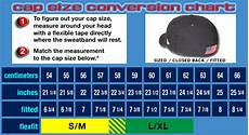Cape Size Chart Fitted Black Baseball Cap