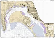 San Diego Bay Depth Chart San Diego Bay Nautical Chart νοαα Charts Maps
