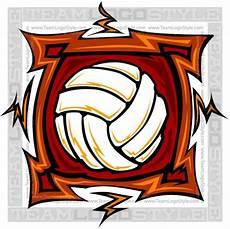 Cool Volleyball Designs Cool Volleyball Design Vector Clipart Square Design