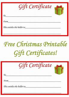 Gift Certificates Blanks Free Christmas Printable Gift Certificates The Diary