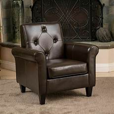 leather accent chairs for living room living room furniture brown leather club chair w tufted