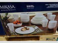 Costco Sale: Mikasa 'Swirl' White 36 Piece Bone China