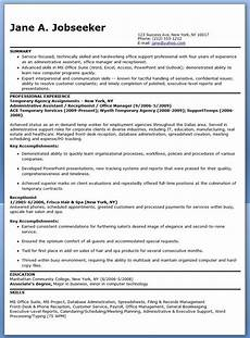 Temp Resume Temporary Administrative Assistant Resume Administrative