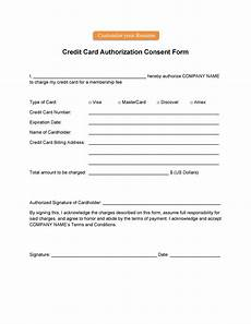 Credit Card Authorization Letter Template Credit Card Authorization Letter Format Letter Template