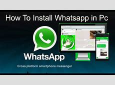 How to install whatsapp on PC Windows 7 , windows 8