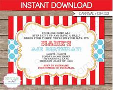 Carnival Theme Party Invitations Templates 14 Circus Party Invitations Psd Vector Eps
