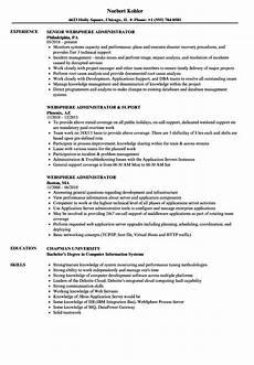 Server Admin Resume Websphere Administrator Resume Samples Velvet Jobs