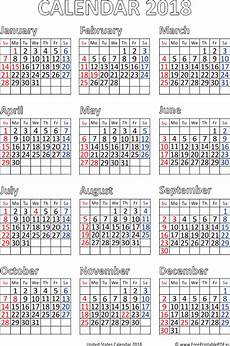 Us Calendars Download Free Printable Calendars 2017 2018 India Usa