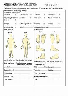 Physiotherapy Assessment Chart Assessment Chart For Wound Management Patient Id Lab