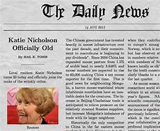 News Article Examples Funny Newspaper Generator With Your Own Picture