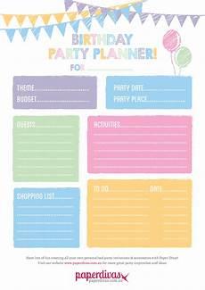 Party Planning Templates Paperdivas Blog Free Party Planner Printable