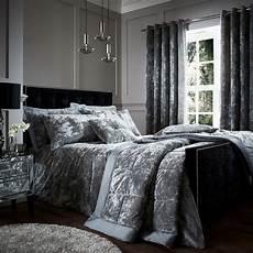 crushed velvet bedspread silver grey tonys textiles