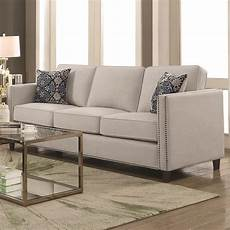 coaster coltrane by coaster transitional sofa with nail