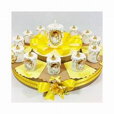 candele bomboniera torta bomboniera con candele con immagine prima comunione