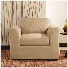 Surefit Sofa Slipcovers Leather 3d Image by Sure Fit 174 Stretch Leather 2 Pc Chair Slipcover 581247