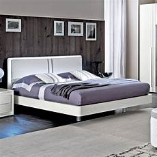 rombi white high gloss leather 6ft bed frame