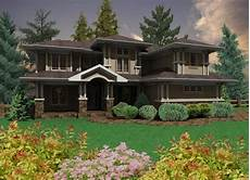 Home Design Style Prairie Style Home With 3 Car Garage 16050pn