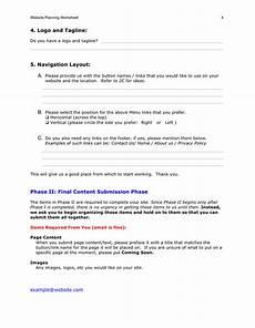 Website Planning Template Website Planning Worksheet Template In Word And Pdf