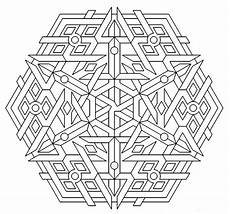 Coloring Geometric Pages Free Printable Geometric Coloring Pages For