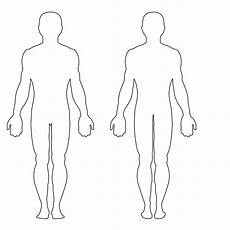 Blank Body Chart Outline Of Person Coloring Page Coloring Home