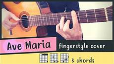 Ave Chord Chart Ave Guitar Cover Fingerstyle Chords Guitar