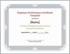 Product Performance Certificate Format Employee Performance Certificate Template Word Templates