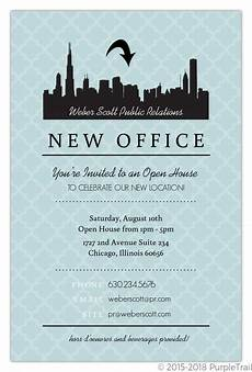 Business Open House Invitation Blue Skyline Open House Invitation Business Open House