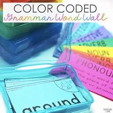Color Coded Grammar Chart Grammar Wall Kit Grammar Word Wall Parts Of Speech